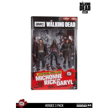 McFarlane Toys The Walking Dead Heroes 3-Pack Rick, Daryl Michonne